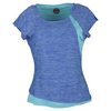 BOLLE Women`s Dragonfly Cap Sleeve Tennis Top Aqua and Periwinkle