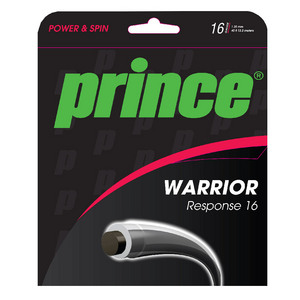 Warrior Response 16 Tennis String Black and Transparent