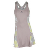 ADIDAS Women`s Stella McCartney Roland Garros Tennis Dress Glacial and Fresh Yellow