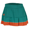 ADIDAS Women`s All Premium 14 Inch Tennis Skort EQT Green