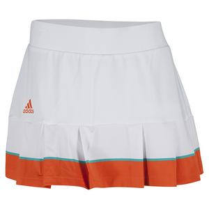 adidas WOMENS ALL PREMIUM 12 TNS SKORT WHITE