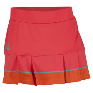 Women`s All Premium 14 Inch Tennis Skort Shock Red