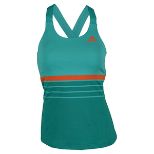 Women`s All Premium Strappy Tennis Tank EQT Green