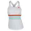Women`s All Premium Strappy Tennis Tank White by ADIDAS