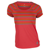 Women`s All Premium Tennis Tee Shock Red by ADIDAS
