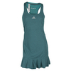Women`s Climachill Tennis Dress Chill Shock Green by ADIDAS