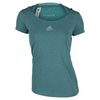 Women`s Climachill Tennis Tee Chill Shock Green by ADIDAS