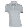 ADIDAS Women`s Climachill Tennis Polo Chill Mid Gray