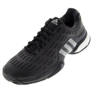 Men`s Barricade 2016 Boost Tennis Shoes Black and Iron Metallic