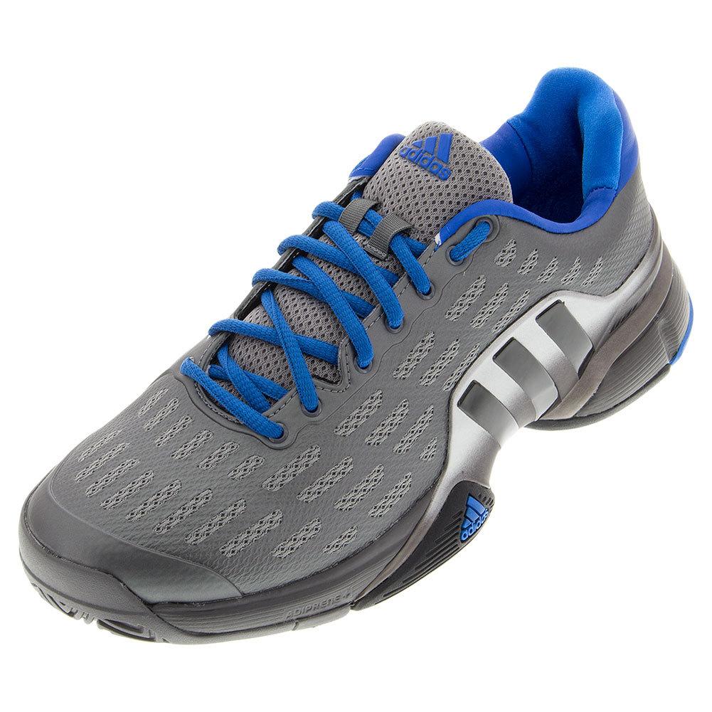 Men's Barricade 2016 Tennis Shoes Iron Metallic And Black