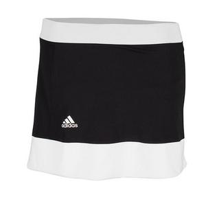 Girls` Court Tennis Skort Black and White