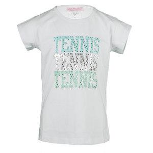 Girls` Rhinestone Tennis Tee White