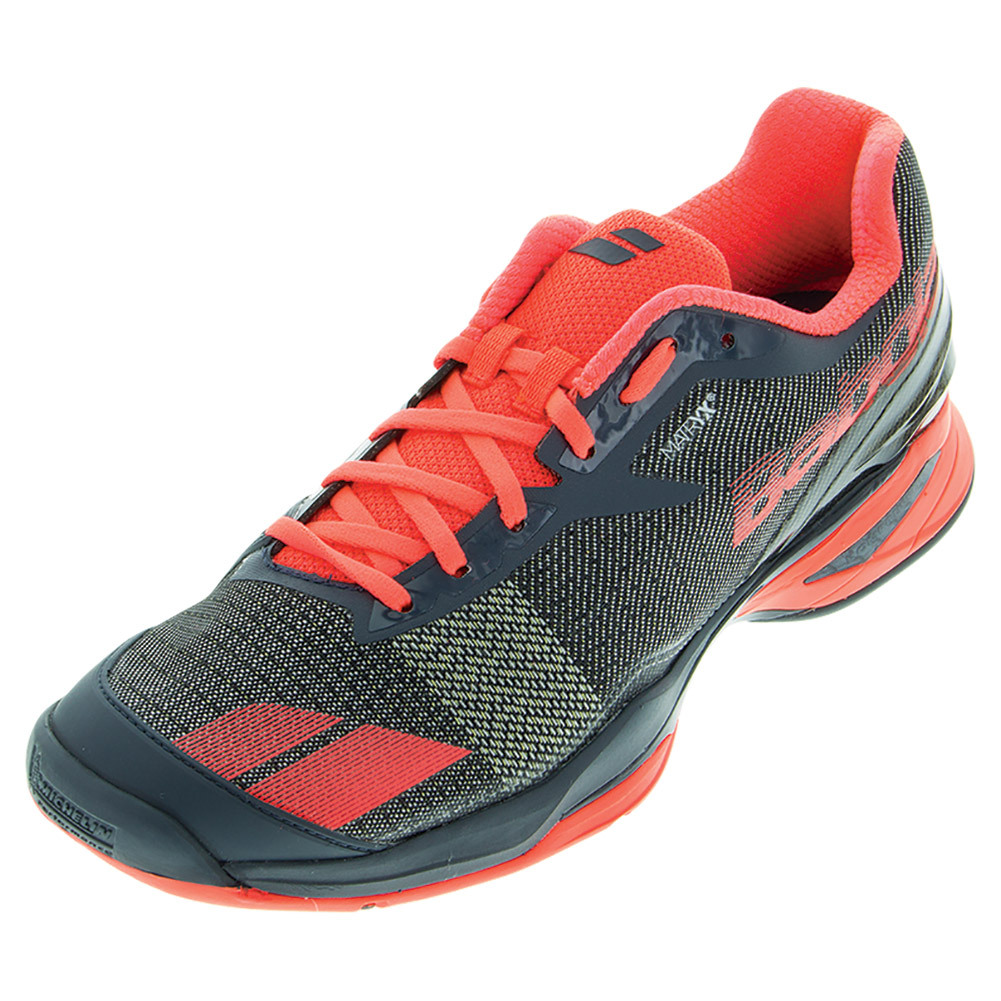 Men's Jet All Court Tennis Shoes Gray And Red