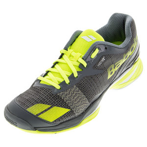 Men`s Jet All Court Tennis Shoes Gray and Yellow