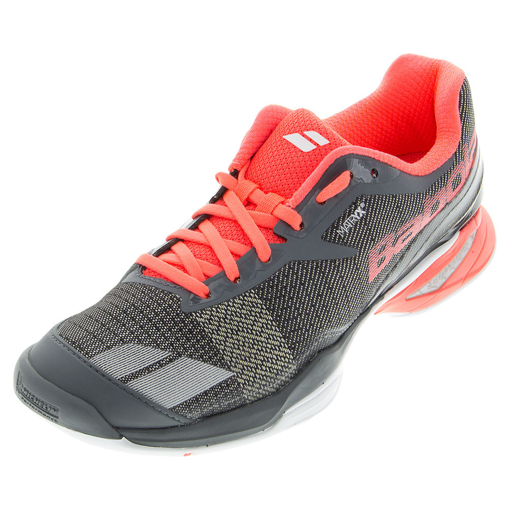 BABOLAT Women`s Jet All Court Tennis Shoes Gray and Pink