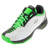 Men`s Power Cushion Durable II Tennis Shoes White and Green by YONEX