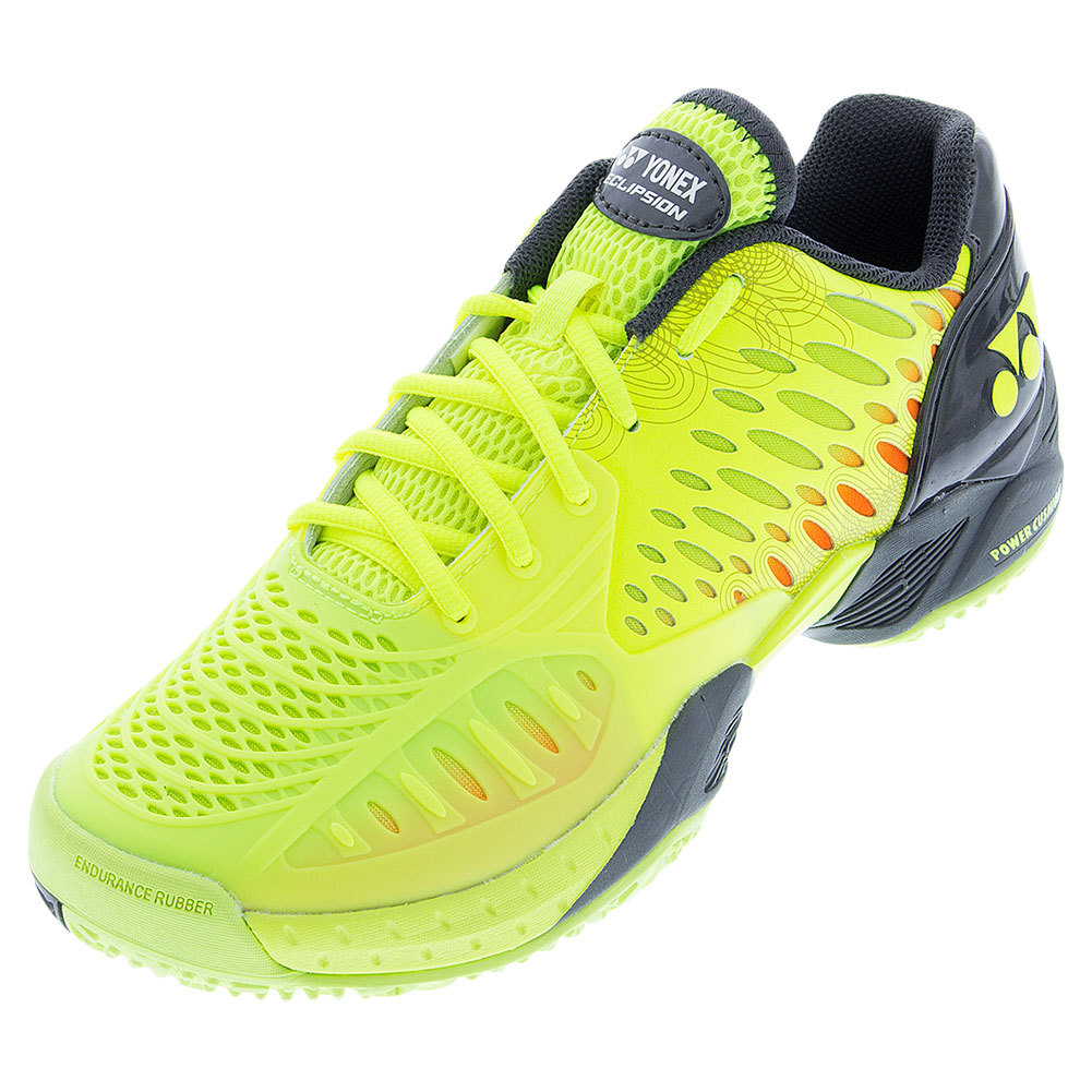 Men's Power Cushion Eclipsion Clay Tennis Shoes Yellow