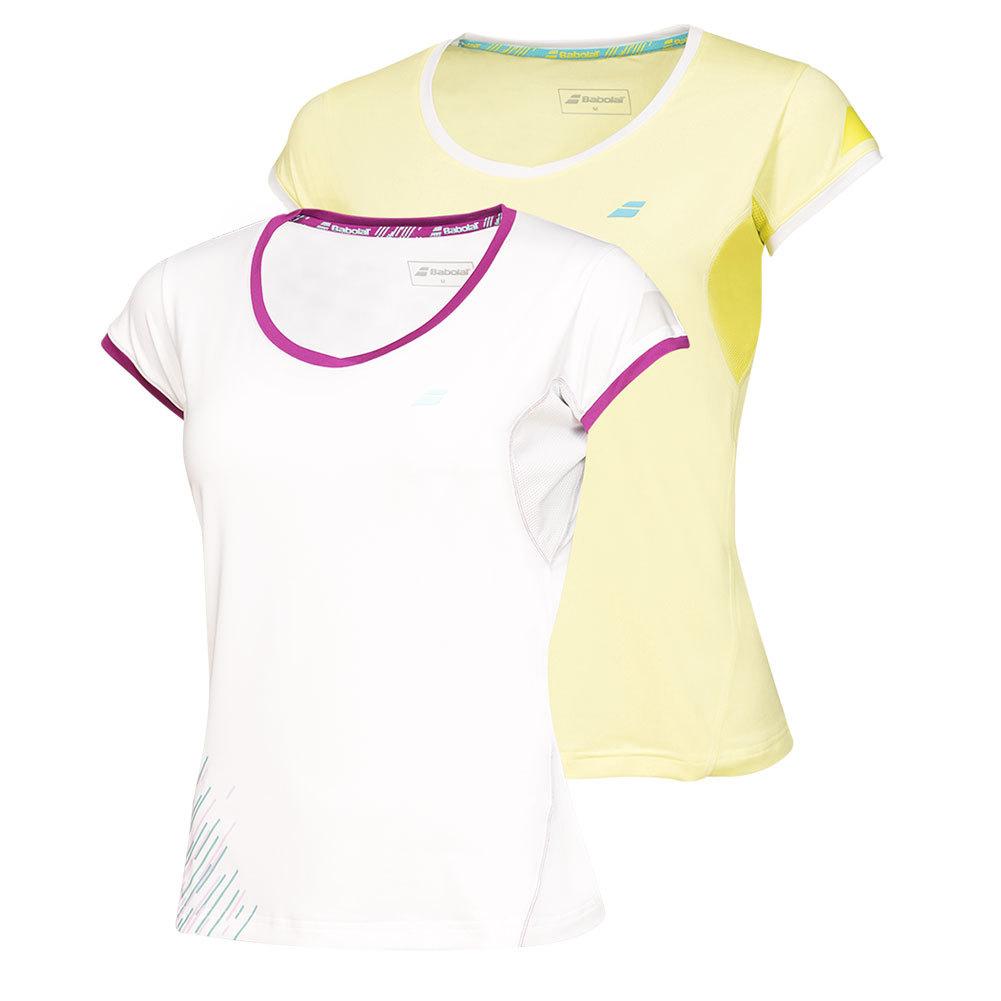 Girls ` Performance Cap Sleeve Tennis Top