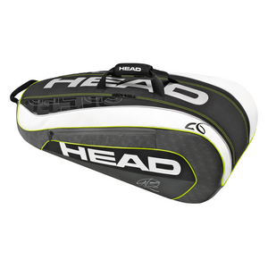 Djokovic 9R Supercombi Tennis Bag Black and White