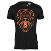 ADIDAS Men`s Alexander Lion Graphic Tennis Tee Black