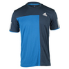 ADIDAS Men`s Club Trend Tennis Tee Shock Blue and Mineral Blue