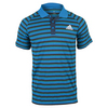 ADIDAS Men`s Club Prime Tennis Polo Shock Blue and Mineral Blue