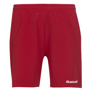 BABOLAT MENS CORE TENNIS SHORT RED