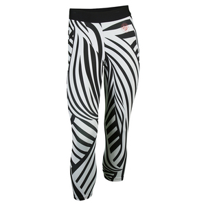 Women`s Roland Garros Y-3 Tennis Leggings Black and White