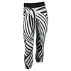 Women`s Roland Garros Y-3 Tennis Leggings Black and White by ADIDAS