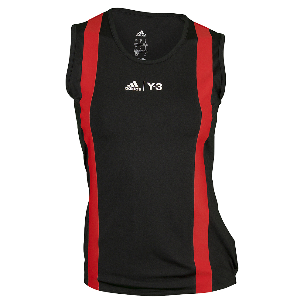Women's Roland Garros Y- 3 Tennis Tank Black And Red