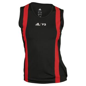 Women`s Roland Garros Y-3 Tennis Tank Black and Red