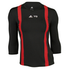 ADIDAS Women`s Roland Garros Y-3 3/4 Sleeve Tennis Tee Black and Red