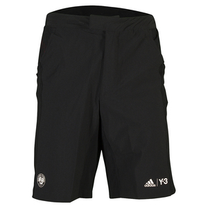 Men`s Roland Garros Y-3 Player Tennis Shorts Black and White