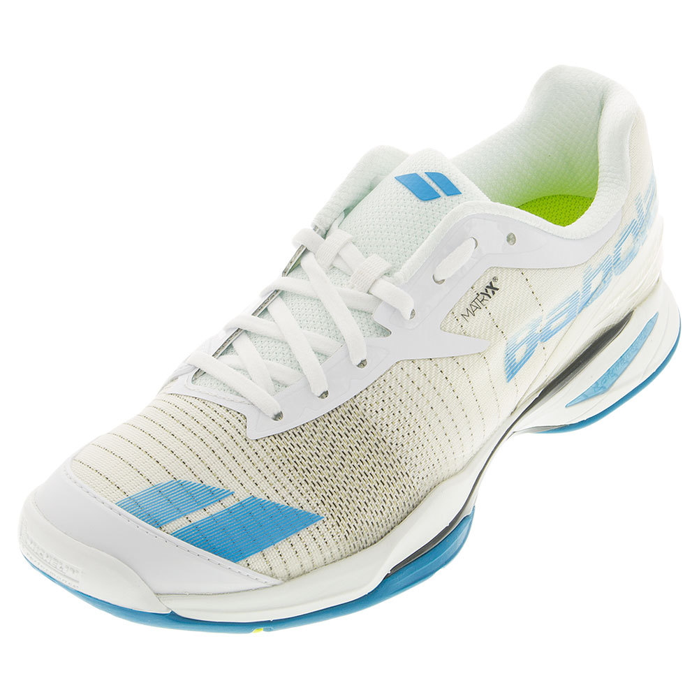 Men's Jet All Court Tennis Shoes White And Blue