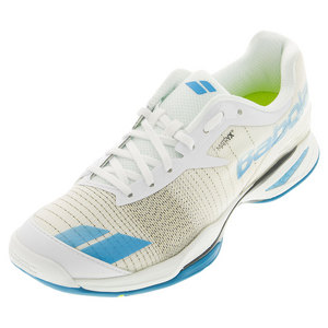 BABOLAT MENS JET ALL CRT TENNIS SHOES WHITE/BLUE