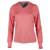 Women`s Serpentine Long Sleeve Tennis Top Coral by BOLLE