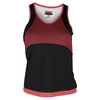BOLLE Women`s Moulin Rouge Tennis Tank Black and Rouge Heather