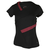 BOLLE Women`s Moulin Rouge Cap Sleeve Tennis Top Black