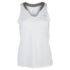 ELEVEN Women`s Love Tennis Tank White and Frost Gray