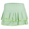 LUCKY IN LOVE Women`s Diamond Pleated Tier Tennis Skirt Seafoam