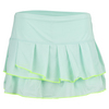 LUCKY IN LOVE Women`s Pleated Tier Tennis Skirt Seafoam