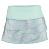 LUCKY IN LOVE Women`s Snake Scallop Tennis Skirt Seafoam