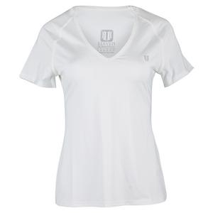 Women`s Studio V-Neck Tennis Top White