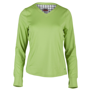 BOLLE WOMENS TWIST OF LIME LS TNS TOP LIME