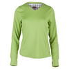 BOLLE Women`s Twist of Lime Long Sleeve Tennis Top Lime
