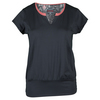 Women`s Serpentine Cap Sleeve Tennis Top Graphite by BOLLE
