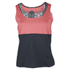BOLLE Women`s Serpentine Tennis Tank Coral and Graphite