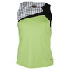 Women`s Twist of Lime Tennis Tank Lime by BOLLE