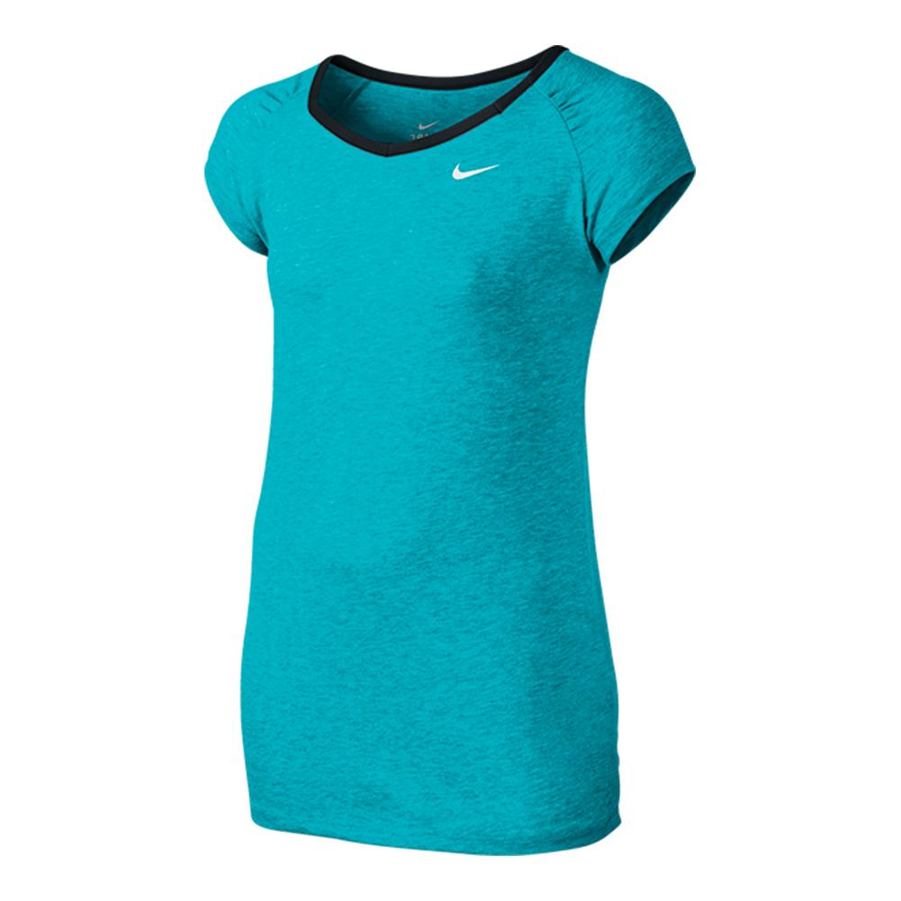 Girls ` Dri- Fit Cool Short Sleeve Top
