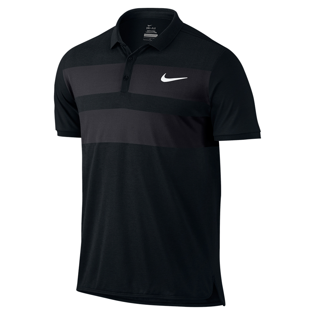 Men's Advantage Dri- Fit Cool Tennis Polo Black